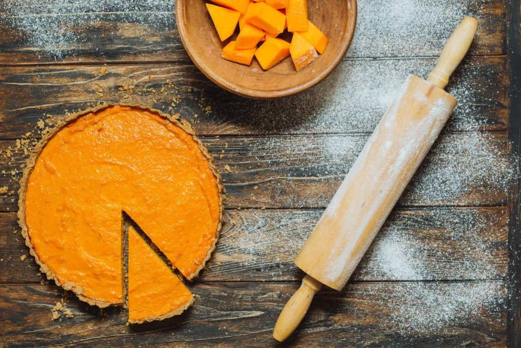 dairy free gluten free pumpkin pie with pin