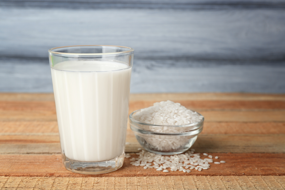calcium in rice milk