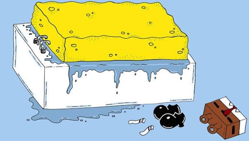 Sponge in Bath