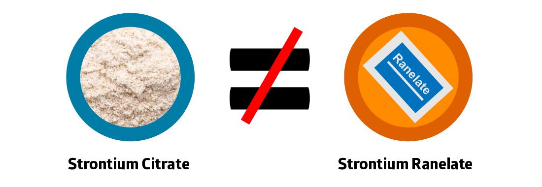 Strontium Citrate vs Strontium Ranelate