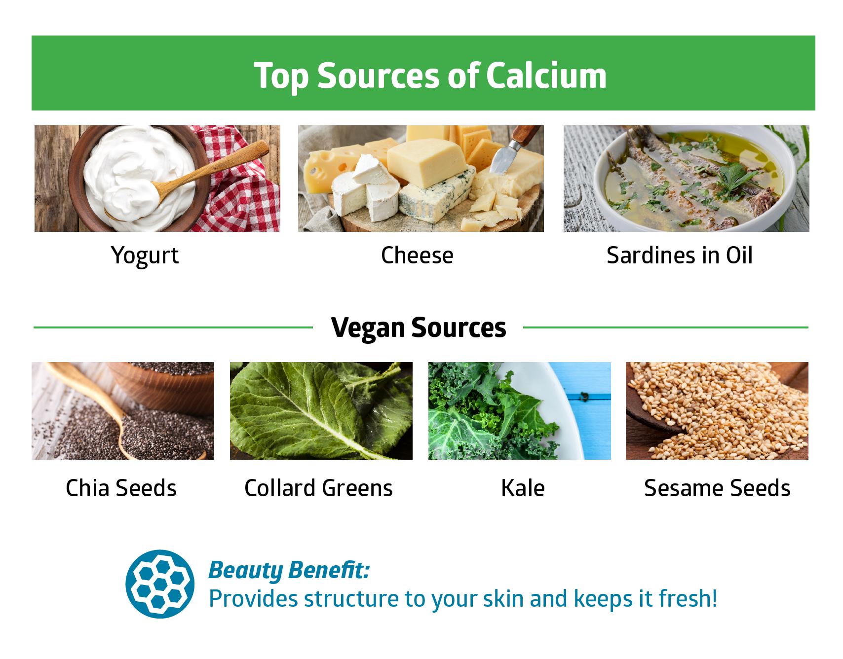 calcium - beauty vitamins and minerals