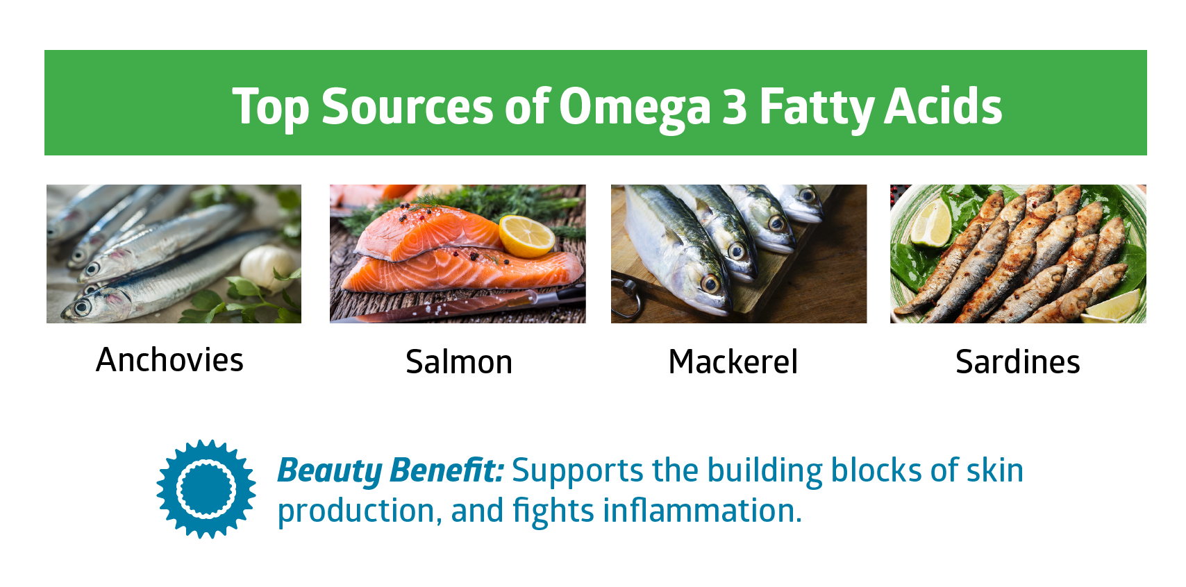 omega 3 fatty acids - beauty vitamins and minerals